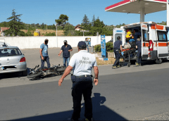 Incidente tra moto e auto in via S. Spirito