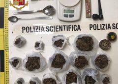 Caltanissetta, controlli antidroga al quartiere Santa Croce. Sequestrati 250 grammi di marijuana e trentaquattro cellulari