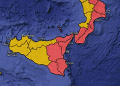 Meteo, domani allerta rossa in mezza Sicilia