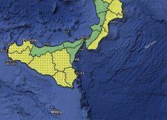 Da domani forti venti e temporali: allerta gialla in Sicilia