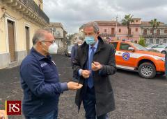 Etna, sopralluogo di Musumeci: un milione a sostegno delle aree più colpite