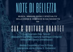 Note di Bellezza, concerto online dei Sax & Guitars Quartet