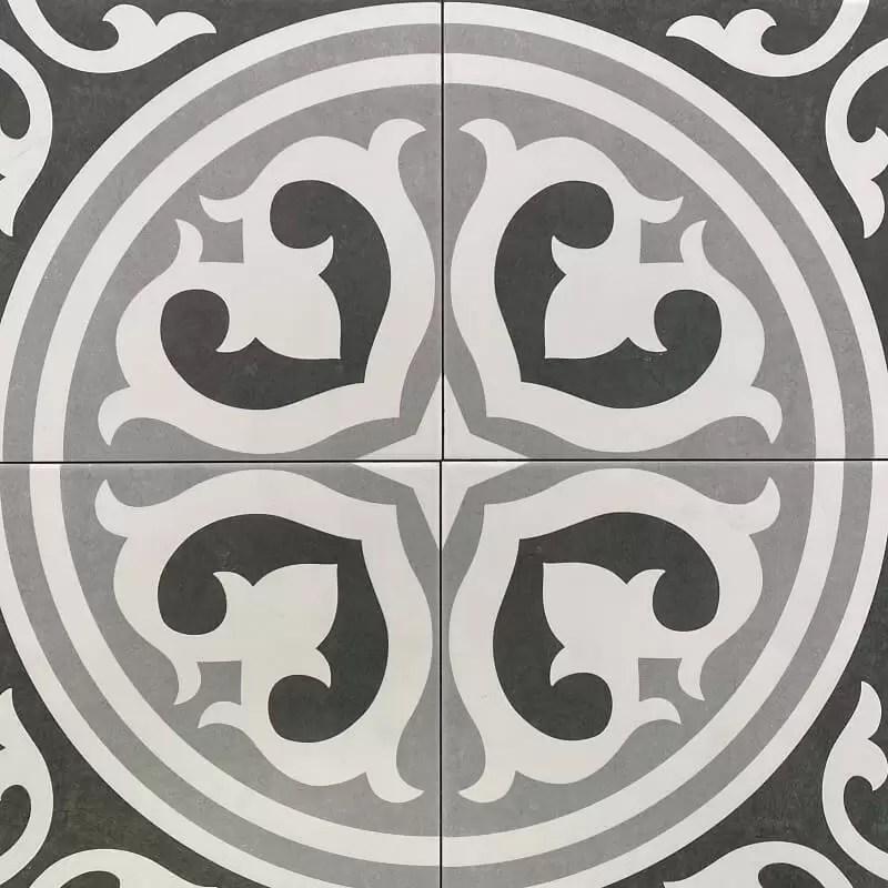 black white retro matt spanish porcelain wall floor tile 3464