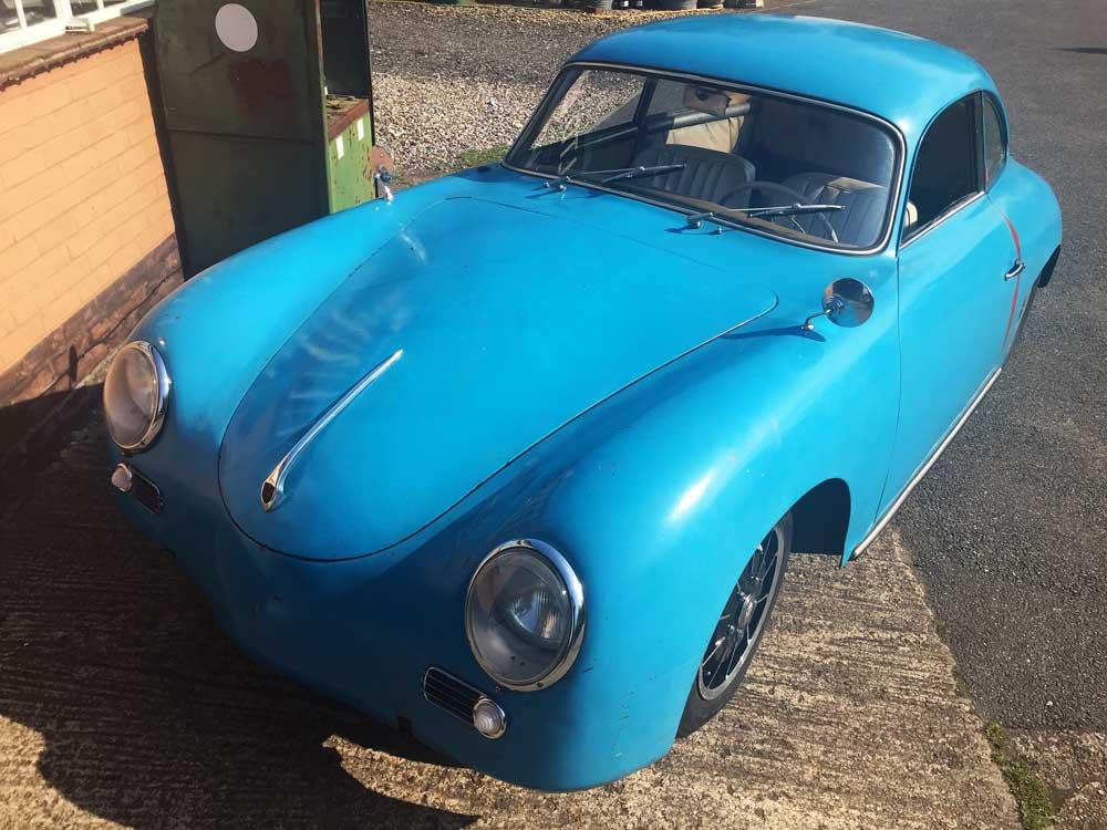 Blue Outlaw Porsche 356 1956 T1 A Coupe For Sale