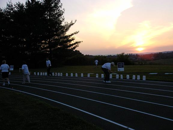 View from Relay for Life