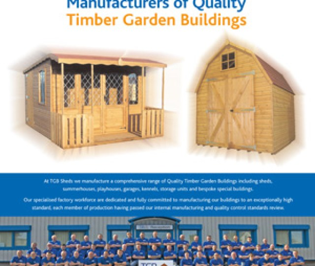 Tgb Sheds Home And Gardens Advert