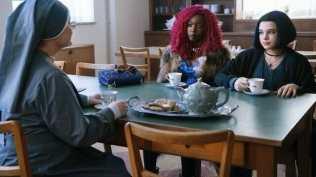 Meagen Fay, Anna Diop, and Teagan Croft in Titans (2018)