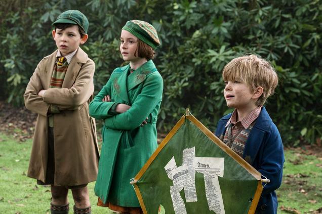 Nathanael Saleh, Pixie Davies, and Joel Dawson in Mary Poppins Returns (2018)