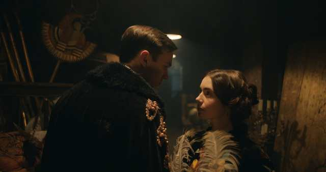 Nicholas Hoult and Lily Collins in the film TOLKIEN. Photo Courtesy of Fox Searchlight Pictures. © 2019 Twentieth Century Fox Film Corporation All Rights Reserved