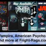 Celebrate 45 Years of JAWS, Plus AMERICAN PSYCHO, VAMPIRA, & UHF Apparel at Fright-Rags.com