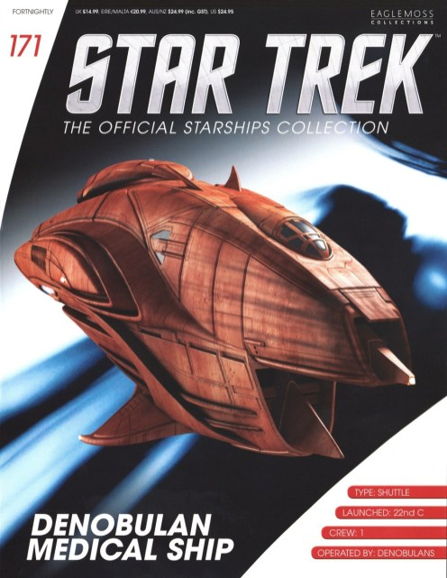 Star Trek  The Official Starships Collection #171 Barzai Denobulan Medical Ship