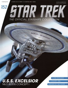 Star Trek: The Official Starships Collection #152 U.S.S. Excelsior Prototype Mk I