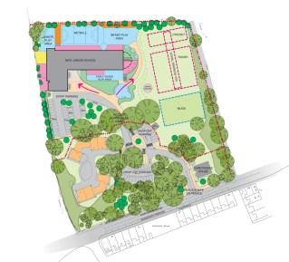 Landscape Zoning PlanDame Allan's Junior School