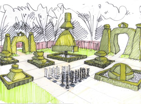 Chess Garden Sketch