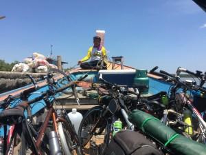 Bikes in boat