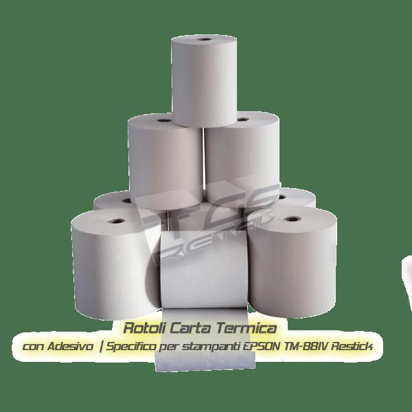Rotoli carta termica adesiva per epson TM-T88IV Restick