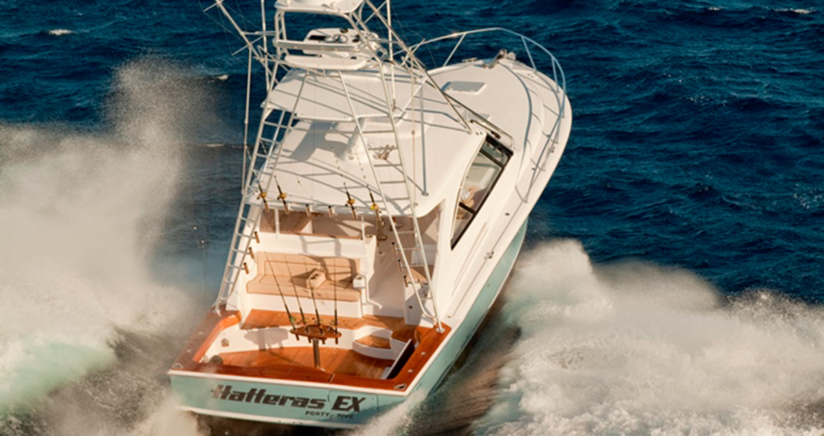 Hatteras 45EX Tom George Yacht Group TGYG