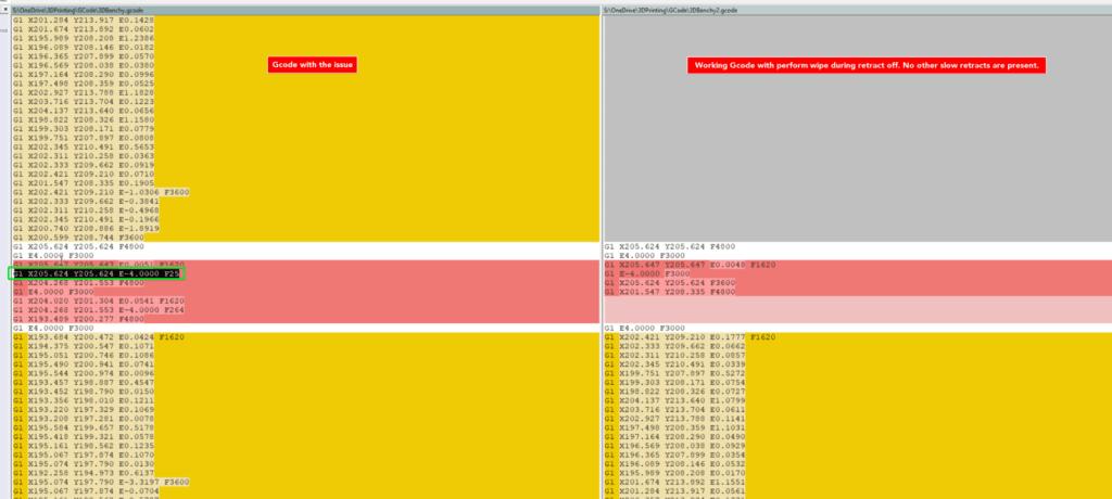 Simplify3D - Retraction during wipe bug - Causes Printer Slowdown