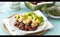 Savoury mince cobbler recipe