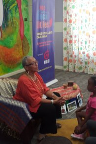 Thelma Perkins inside Storytelling room at the Scarborough Library Facility.