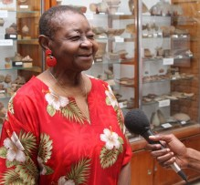 Calypso Rose at the Tobago Museum at Fort King George, Scarborough in 2015.