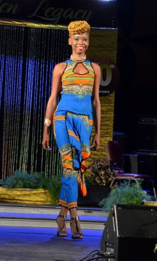 Roxborough resident Kezziah Williams, looks lovely in her dress. She placed third in the Windward Afro Queen competition.