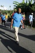 Parish priest Fr Bonas was among taking the trek.