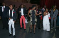 Guests enjoy a dance of the electric slide.