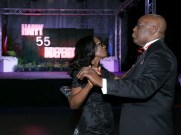 Chief Secretary Kelvin Charles and his wife Catherine share a dance.