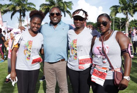 Secretary of the Division of Finance and Enterprise Development Joel Jack supports employees from his Division who participated in the event.