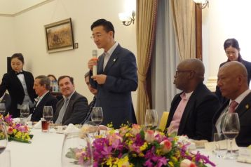 THA Chief Secretary Kelvin Charles attended a dinner for the Diplomatic Corps hosted by Deputy Director General of Guangdong Foreign Affairs Office Cang Feng.