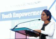 Sasha Layne of Ginamco Caribbean Ltd delivers the keynote address.