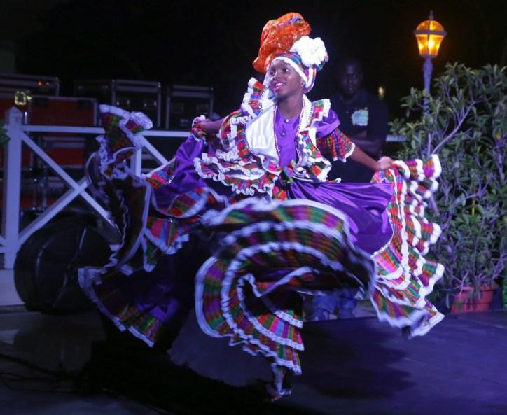 Xante dancers doing a bele dance.