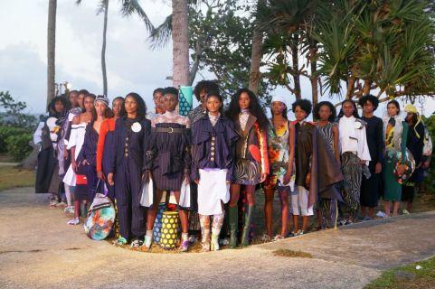 Models showcase the work of Dutch designer Liselore Frowijn.