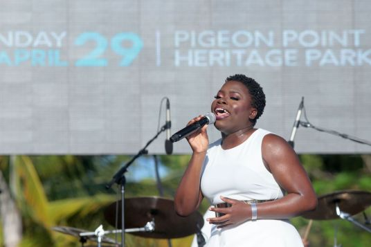 Soprano Lletesha Sylvester gets the crowd started in the mid-afternoon with her stunning vocal range.
