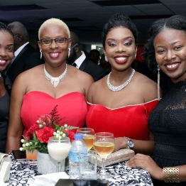 From left, Nekaisha Legerton, Joanne Stewart-LeBourne, Tourism Secretary Nadine Stewart-Phillips and Tawanda Le Bourne.
