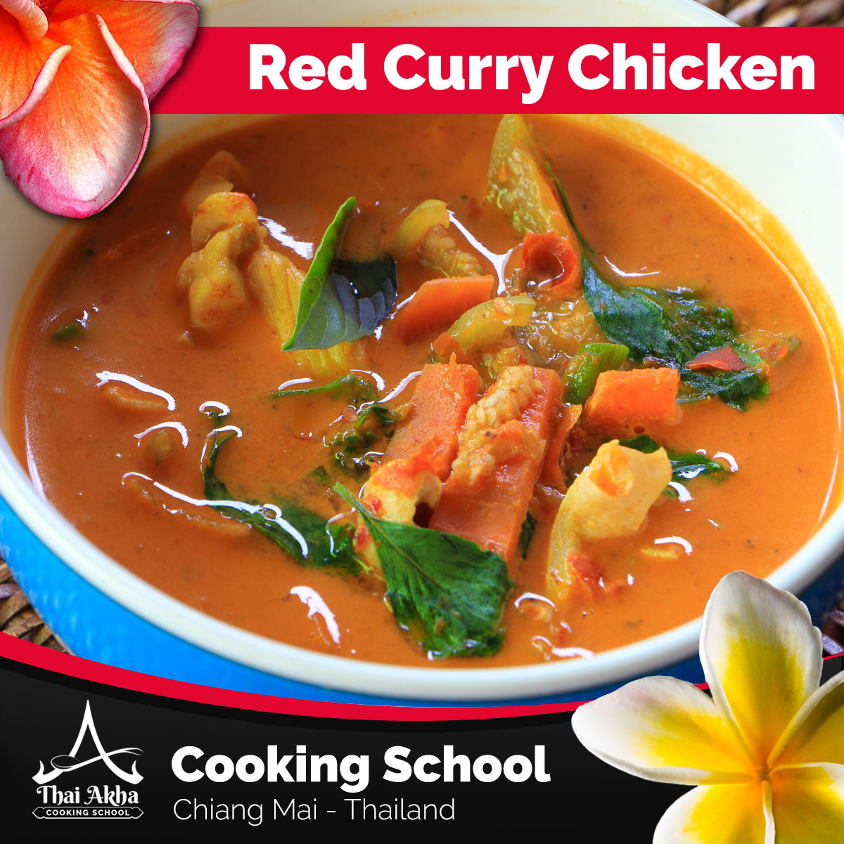 Red Curry Chicken - Akha Kitchen - Akha Recipes - Thai Akha Kitchen