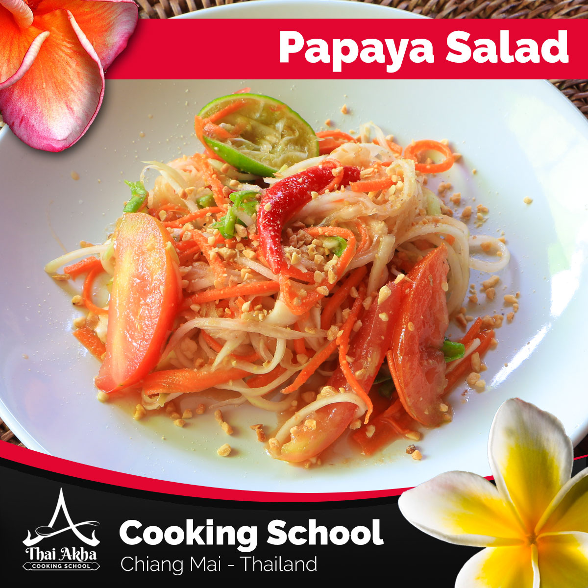 Papaya Salad - Akha Kitchen - Akha Recipes - Thai Akha Kitchen