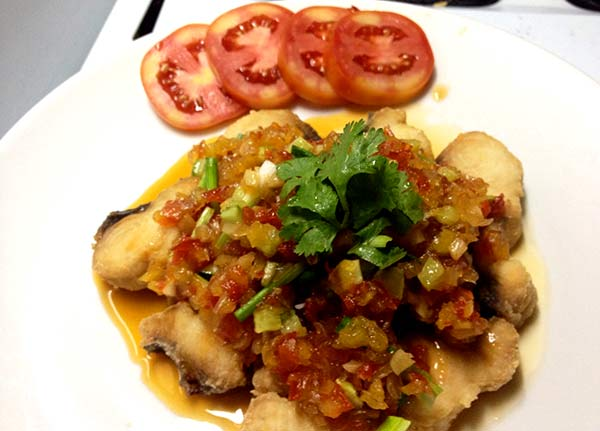 Thai recipe Sweet and Sour Fish