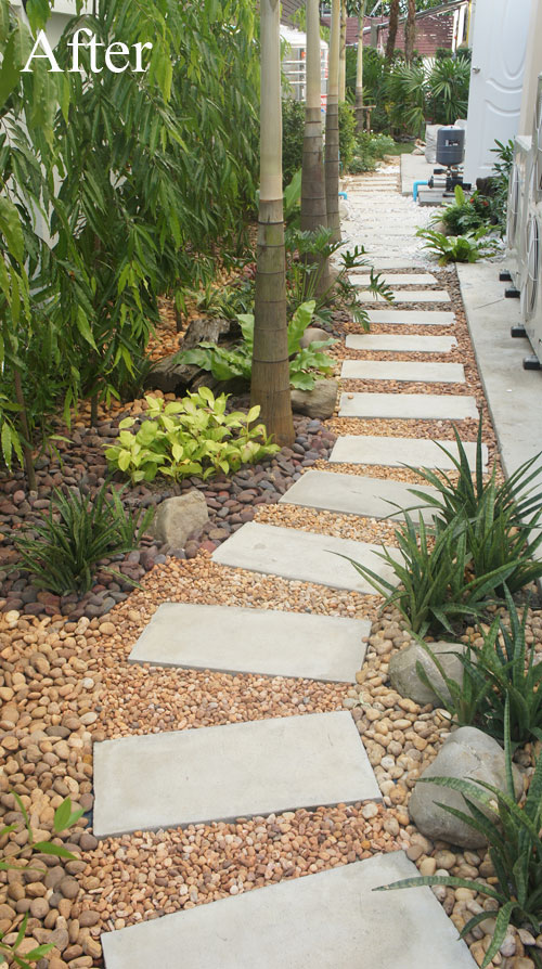 Convert Your Building Site Into a Low Maintenance Pebble ... on Pebble Yard Ideas id=53044