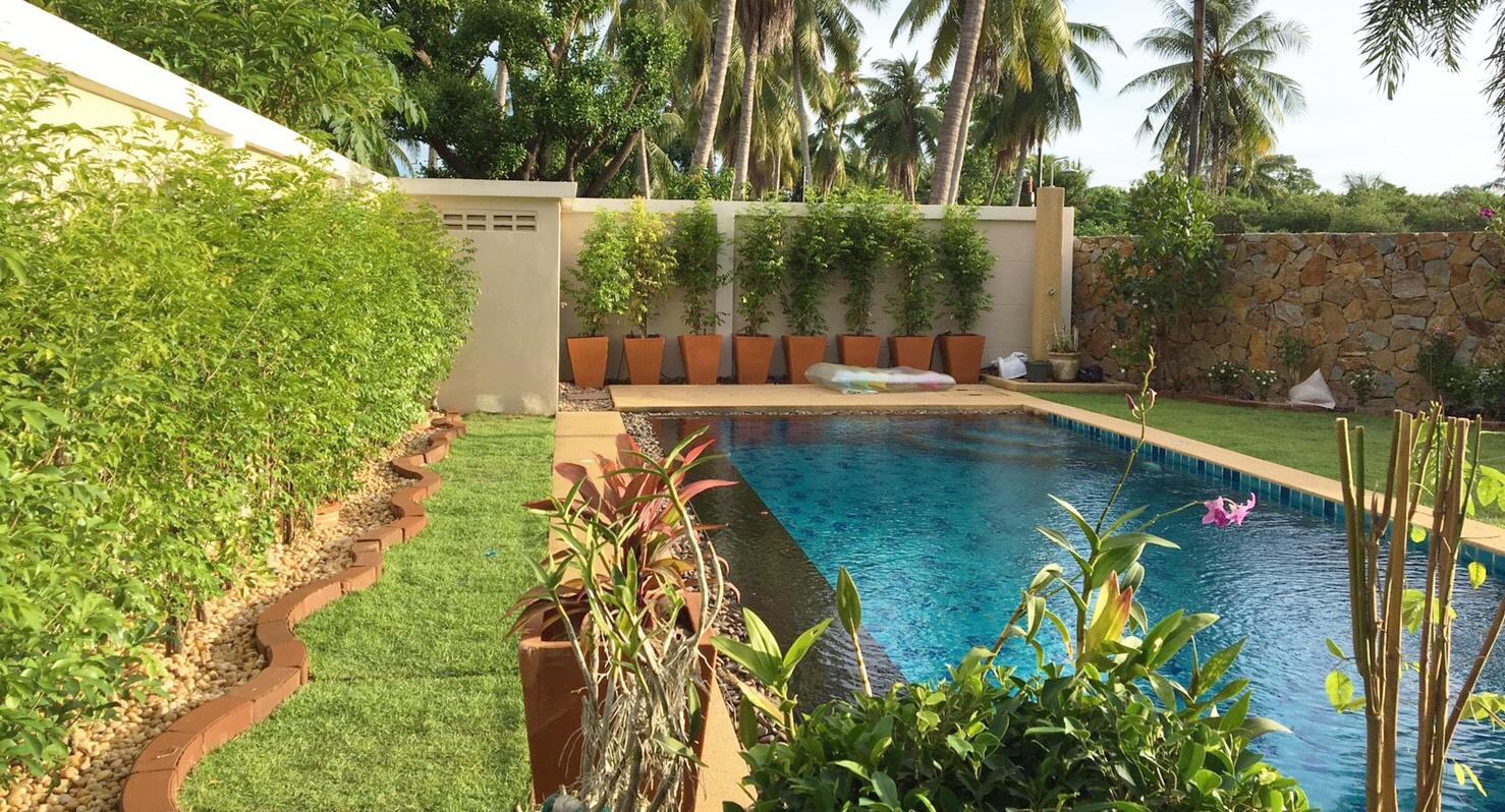 Modern Low Maintenance Landscape For Pattaya Couple