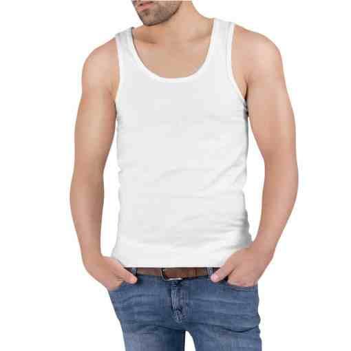 เสื้อกล้ามผู้ชาย 2540 สีขาวด้านหน้า