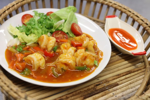 Spicy Thai king prawns