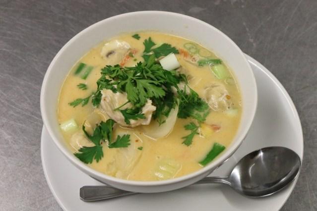 Tom ka Thai coconut soup