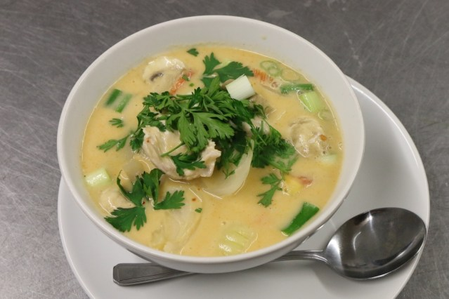 Tom ka Thai coconut soup