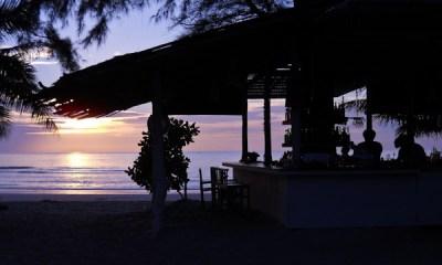 Beach sunset island