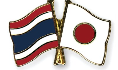Japan Thailand flags