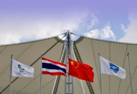 China Thailand Flag Shangai