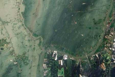ayutthaya flooded satellite