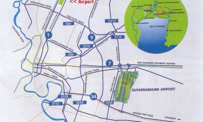 Bangkok airports Map